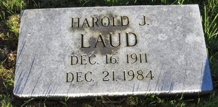 LAUD, HAROLD J. - Mahaska County, Iowa   HAROLD J. LAUD