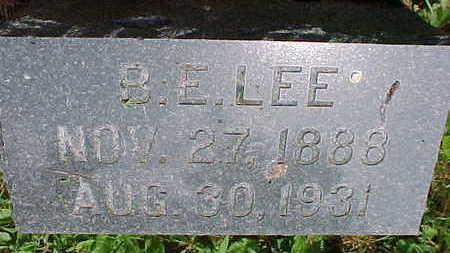 LEE, B.E. - Mahaska County, Iowa | B.E. LEE