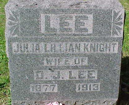 KNIGHT LEE, JULIA LILLIAN - Mahaska County, Iowa | JULIA LILLIAN KNIGHT LEE