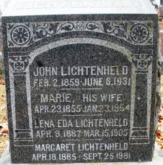 LICHTENHELD, LENA EDA - Mahaska County, Iowa | LENA EDA LICHTENHELD