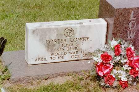 LOWRY, PORTER - Mahaska County, Iowa | PORTER LOWRY