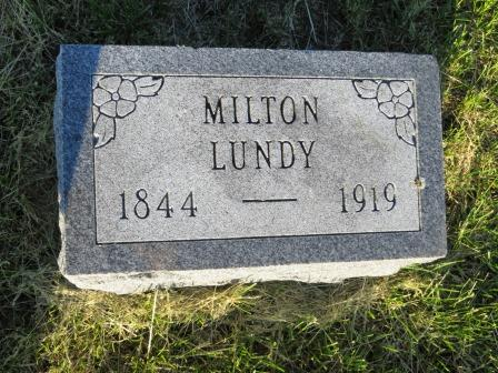 LUNDY, MILTON - Mahaska County, Iowa | MILTON LUNDY