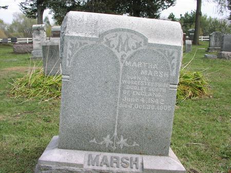 MARSH, MARTHA - Mahaska County, Iowa   MARTHA MARSH