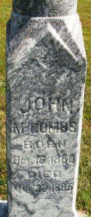 MCCOMBS, JOHN - Mahaska County, Iowa | JOHN MCCOMBS