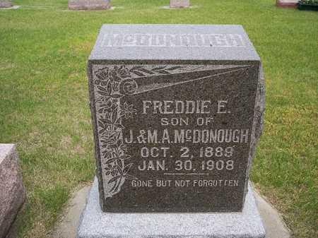 MCDONOUGH, FREDDIE E. - Mahaska County, Iowa | FREDDIE E. MCDONOUGH