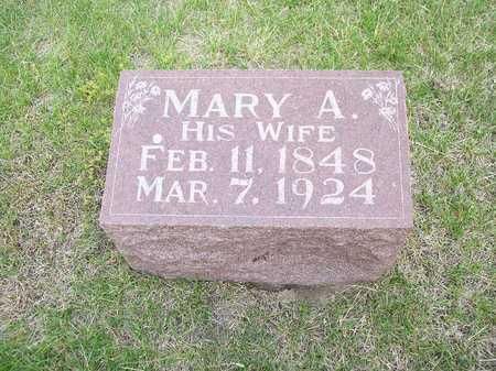 MCDONOUGH, MARY A. - Mahaska County, Iowa   MARY A. MCDONOUGH