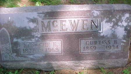 MCEWEN, BLANCHE E. - Mahaska County, Iowa   BLANCHE E. MCEWEN