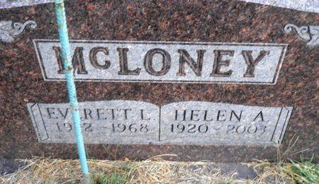 NEWELL MCLONEY, HELEN ALZINA - Mahaska County, Iowa | HELEN ALZINA NEWELL MCLONEY