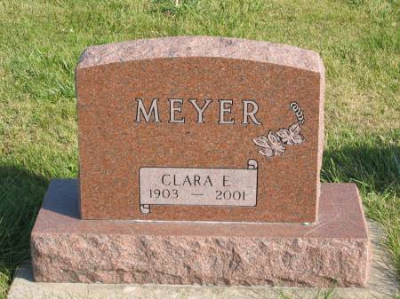 MEYER, CLARA E. - Mahaska County, Iowa | CLARA E. MEYER