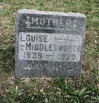 MIDDLESWORTH, LOUISE - Mahaska County, Iowa | LOUISE MIDDLESWORTH