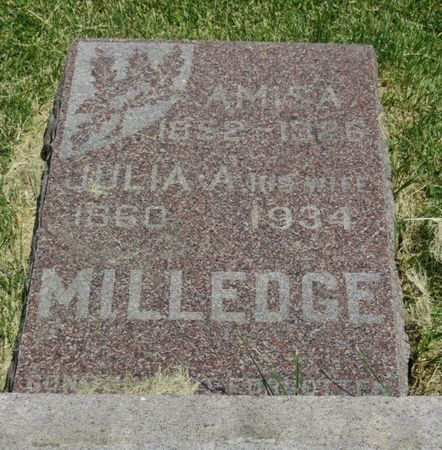 MILLEDGE, JULIA - Mahaska County, Iowa | JULIA MILLEDGE