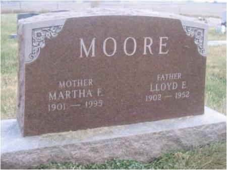 MOORE, MARTHA F - Mahaska County, Iowa | MARTHA F MOORE