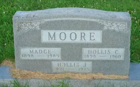 MOORE, MADGE - Mahaska County, Iowa   MADGE MOORE