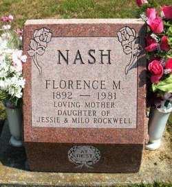 ROCKWELL NASH, FLORENCE M. - Mahaska County, Iowa | FLORENCE M. ROCKWELL NASH