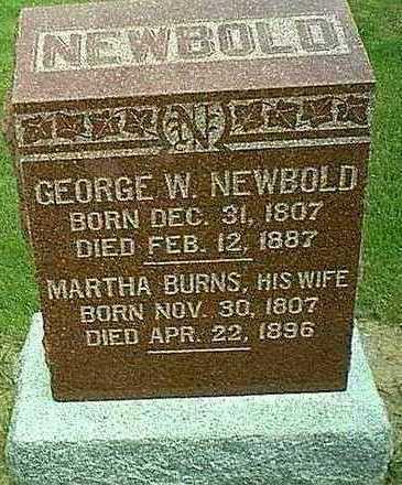 NEWBOLD, GEORGE - Mahaska County, Iowa | GEORGE NEWBOLD