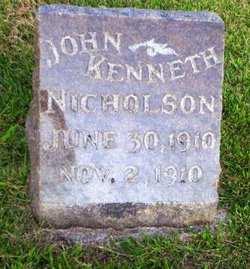 NICHOLSON, JOHN KENNETH - Mahaska County, Iowa | JOHN KENNETH NICHOLSON