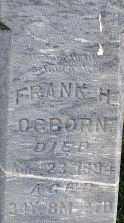 OGBORN, FRANK K. - Mahaska County, Iowa | FRANK K. OGBORN