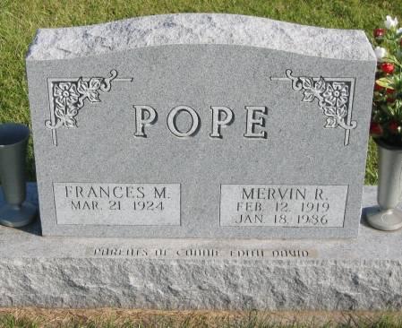 POPE, MERVIN R. - Mahaska County, Iowa | MERVIN R. POPE