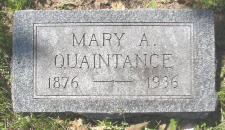 MORGAN QUAINTANCE, MARY - Mahaska County, Iowa | MARY MORGAN QUAINTANCE