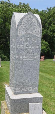 RHINE, WALTER G. - Mahaska County, Iowa | WALTER G. RHINE