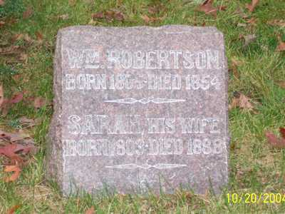 ROBERTSON, WILLIAM - Mahaska County, Iowa | WILLIAM ROBERTSON