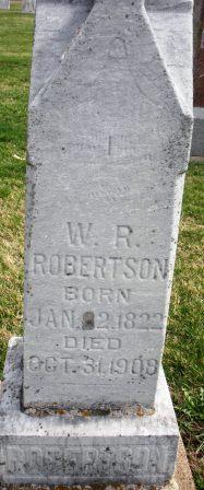 ROBERTSON, W. R. - Mahaska County, Iowa | W. R. ROBERTSON