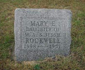 ROCKWELL, MARY E. - Mahaska County, Iowa | MARY E. ROCKWELL