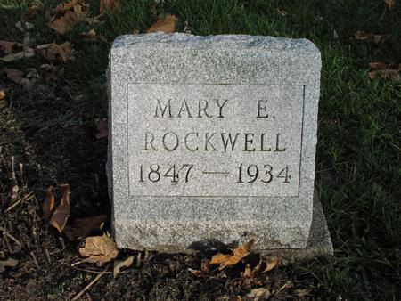 ROCKWELL, MARY E. - Mahaska County, Iowa | MARY E. ROCKWELL