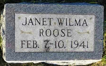 ROOSE, JANET WILMA - Mahaska County, Iowa | JANET WILMA ROOSE