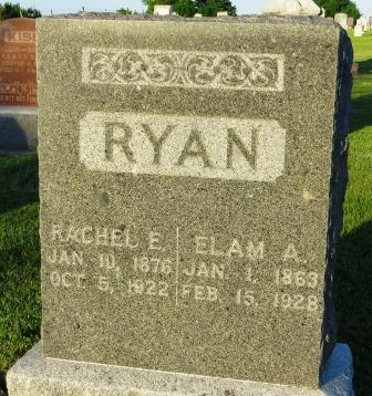RYAN, RACHEL E. - Mahaska County, Iowa | RACHEL E. RYAN