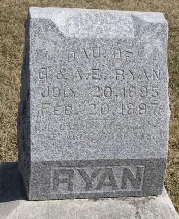 RYAN, FRANCES - Mahaska County, Iowa   FRANCES RYAN
