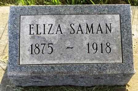 SAMAN, ELIZA - Mahaska County, Iowa | ELIZA SAMAN