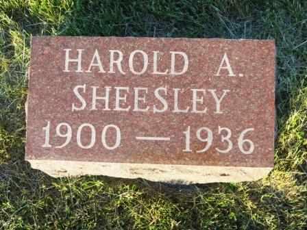 SHEESLEY, HAROLD A. - Mahaska County, Iowa | HAROLD A. SHEESLEY
