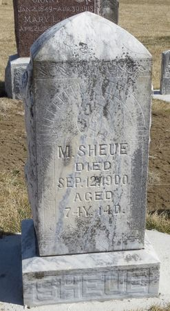 SHEUE, M. - Mahaska County, Iowa | M. SHEUE