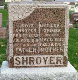 SHIMER SHROYER, MATILDA J. - Mahaska County, Iowa | MATILDA J. SHIMER SHROYER