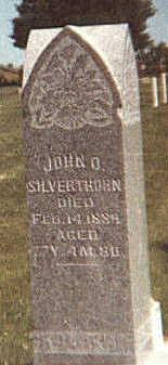 SILVERTHORN, JOHN OLIVER - Mahaska County, Iowa   JOHN OLIVER SILVERTHORN