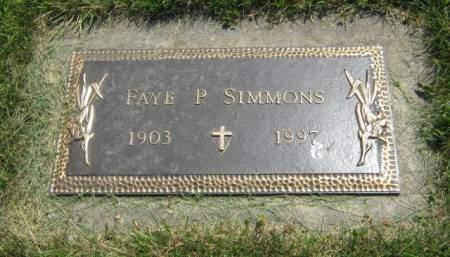 SIMMONS, FAYE P - Mahaska County, Iowa   FAYE P SIMMONS