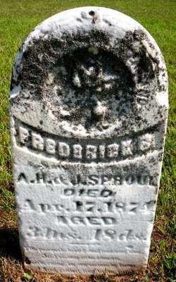 SPROUL, FREDERICK S. - Mahaska County, Iowa | FREDERICK S. SPROUL