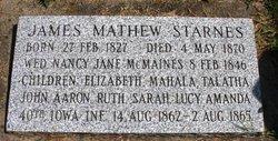 STARNES, JAMES MATHEW - Mahaska County, Iowa | JAMES MATHEW STARNES