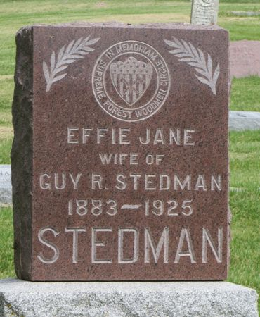 STEDMAN, EFFIE JANE - Mahaska County, Iowa | EFFIE JANE STEDMAN