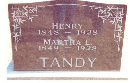 TANDY, MARTHA E. - Mahaska County, Iowa | MARTHA E. TANDY
