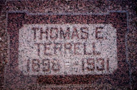 TERRELL, THOMAS E. - Mahaska County, Iowa | THOMAS E. TERRELL