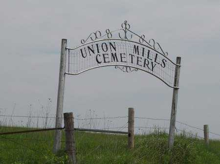 UNION MILLS, CEMETERY - Mahaska County, Iowa   CEMETERY UNION MILLS