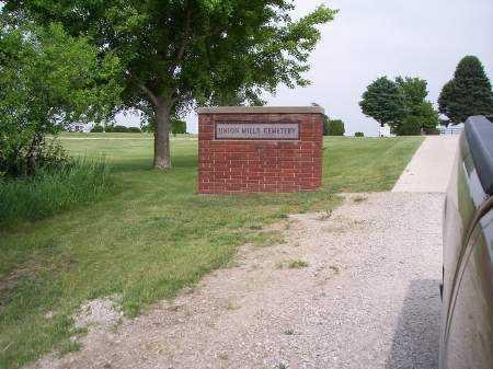 UNION MILLS, CEMETERY - Mahaska County, Iowa | CEMETERY UNION MILLS