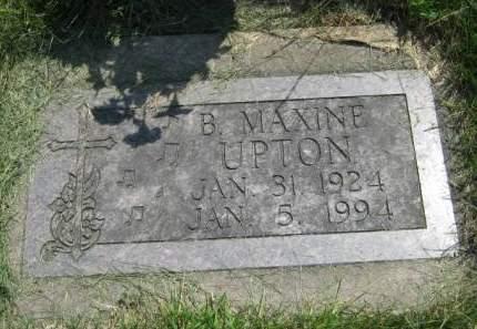 UPTON, B MAXINE - Mahaska County, Iowa | B MAXINE UPTON