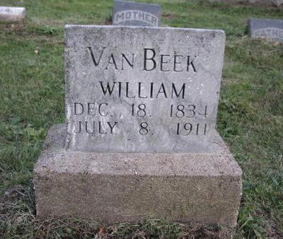 VAN BEEK, WILLIAM - Mahaska County, Iowa   WILLIAM VAN BEEK