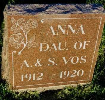 VOS, ANNA - Mahaska County, Iowa | ANNA VOS