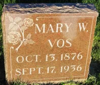 VOS, MARY W. - Mahaska County, Iowa | MARY W. VOS