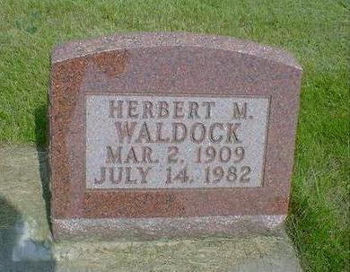WALDOCK, HERBERT M. - Mahaska County, Iowa | HERBERT M. WALDOCK