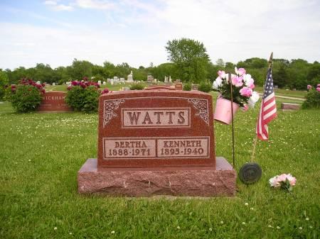 WATTS, BERTHA E. - Mahaska County, Iowa | BERTHA E. WATTS